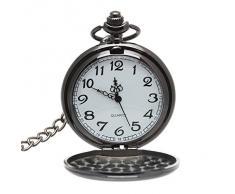 Reloj de Bolsillo Movimiento Cuarzo Esfera Redonda para Hombre