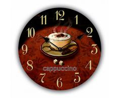 RELOJ DE PARED DISENO TAZA DE CAPUCHINO MODERNO - CUARZO - Tinas Collection