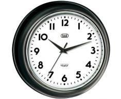 Trevi OM 3315 S - Reloj de pared diseño retro años 60`s de 33 cm, color negro