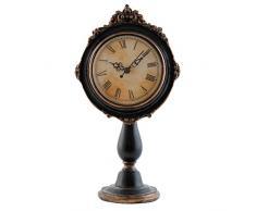 Clayre & Eef 6 kl0313 Reloj de mesa Reloj Reloj de pie sobre base aprox. 16 x 10 x 28 cm