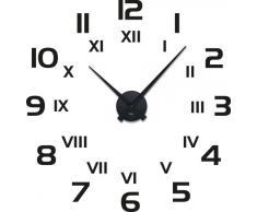 Graz Design - Adhesivo de pared con reloj, diseño moderno con números y cifras romanas