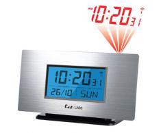 Labs LABS AL805 - Reloj despertador con proyección de la hora y alarma, color aluminio