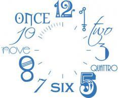 Vinilo de pared: Decoración de pared con reloj número internacional Para el salón la oficina (reloj=Plata cepillada//Color=053 Azul claro)