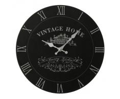 Premier Housewares - Reloj de pared con diseño vintage, funciona con 1 pila aa, 29 cm, color negro