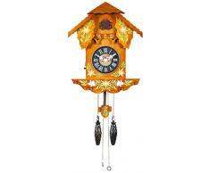 Home Gencianas Reloj Cucú, Madera, Marrón