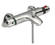 Hogar de Ultra cromado termostático para bañera y ducha grifo mezclador monomando para CD324