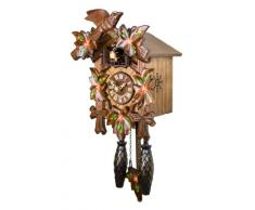 Reloj cucú de cuarzo de Adolf Herr - 5 follajes, pajarito AH 40/6 QM