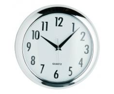 Premier Housewares - Reloj redondo de pared (24 cm), color cromado