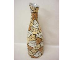 jarron florero resina botella tierra grande