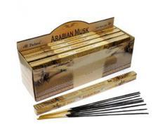 Tulasi - Varillas de incienso con aroma a almizcle árabe, lote de 25 paquetes
