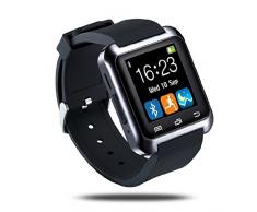 Netspower U80 Fitness y Actividad Rastreador Inteligente Bluetooth Touch Screen 4.0 Abrigo Reloj de Pulsera Teléfono Sportswatch Podómetro Ajuste Apto Smartphones Android IOS de Apple iPhone 5 / 5C / 5S / 6/ 6 Plus HTC LG SONY