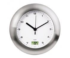 Hama 113914 - Reloj de pared (AA, Plata, De plástico, De plástico)