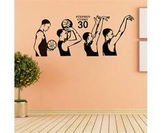 haotong11 Superestrella del Baloncesto Stephen Curry Tiro acción Vinilo Tatuajes de Pared decoración para el hogar Sala de Estar Dormitorio Arte Papel Tapiz de Pared sticker103 * 42 cm