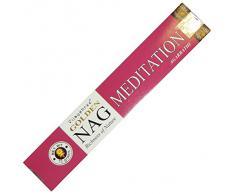 Varillas de incienso 180g Golden Nag Meditation fragancia