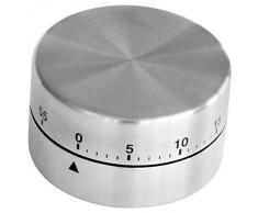 Fackelmann - Temporizador de cocina magnética de acero inoxidable, 60 minutos)