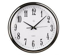Premier Housewares - Reloj de pared con marco (41 cm), color blanco y plateado