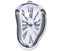 Kare 31089 Flow - Reloj de mesa decorativo (plástico ABS, poliestirol, 12 x 13 x 18 cm)