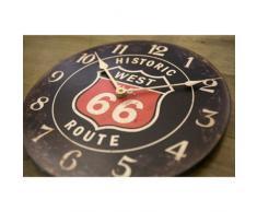 Reloj de la ruta 66 cafe reloj de pared negro