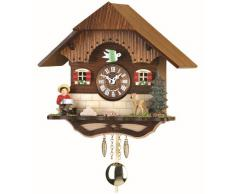 Kuckulino Reloj en miniatura de la selva negra casa de la selva negra cuarzo con llamada del cucú, incluye batería TU 2040 PQ