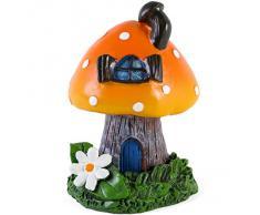 Naranja fumando Toadstool incienso cono sostenedor / quemador por Lisa Parker