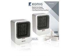 Konig KN-FH10 calentador de ambiente - Calefactor (220 - 240V, 50/60 Hz) Color blanco