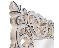 La Fabrica del Cuadro -Espejo Decorativo de Pared, Barroco Piedra pátina Tabaco, Modelo Goya - Medida Exterior 88x178 cm, Medida de Espejo 48x138 cm