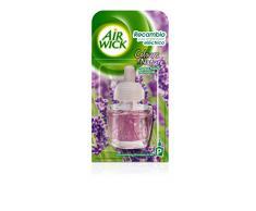 Air Wick - Ambientador Electrico Refill Pradera Purpura de Lavanda, 2 unidades