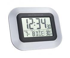Technoline Ws 8005 Reloj de Pared Plata/negro - Despertador