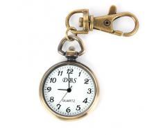 YESURPRISE Reloj De Bolsillo Llavero Estilo Retro Color Bronce Redondo Tradicional