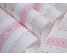 eozy papel pintado infantil decoracin para dormitorio pared rayas rosa