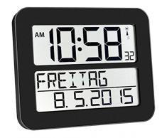 TFA 60.4512.01 - Reloj digital mural, color negro