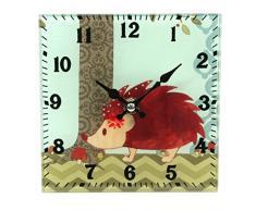 Reloj de pie - estante de cristal Carcasa de erizo reloj (142-551)