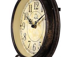 Estilo europeo Retro antiguo diseño de inspiración Vintage de hierro forjado para Manualidades reloj de pared con péndulo para salón, restaurante, sala de estar, dormitorio decoración del hogar pared relojes dyd-66082
