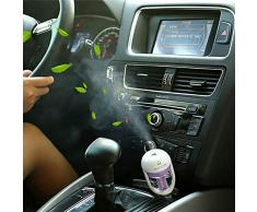 FIRST2SAVVV CAR-JSQ-04G13 morado Automóvil coche Mini humidificador USB purificador de aire ambientador + Luz Mini USB