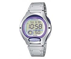 CASIO Collection LW-200D-6AVEF - Reloj para niñas de cuarzo, correa de acero inoxidable color plata