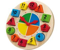 Tidlo T0086 - Reloj para aprendizaje con figuras [números en inglés]