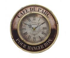 "Classic Shaby Chic Metal reloj de pared de cuarzo ""Cafe Du Parc"""