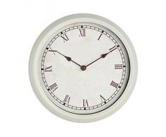 Premier Housewares - Reloj de pared de estilo rústico (27 cm), color crema