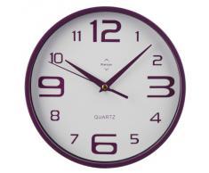 Premier Housewares - Reloj de pared redondo (números grandes y pequeños), color morado