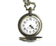 Vintage Retro calavera pirata colgante bolsillo Fob cadena reloj reloj de cuarzo para hombres mujeres
