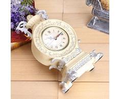 Reloj Retro Reloj De Mesa De Silencio De Resina Adornos Artesanales Accesorios Para El Hogar Que Viven Sala De Escritorio De Oficina