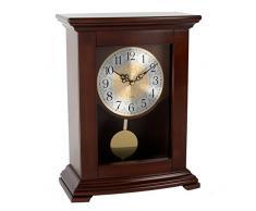 - Reloj de pie Widdop de madera con péndulo.