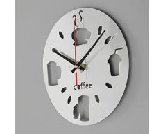 Bluelover Pegatinas de decoración de cocina pared reloj espejo acrílico sala Bar de moderno diseño