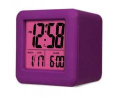 Acctim 14376 Vanos Reloj con alarma, color morado