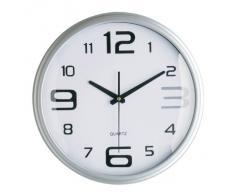 Premier Housewares - Reloj de pared redondo (números grandes y pequeños), color plateado
