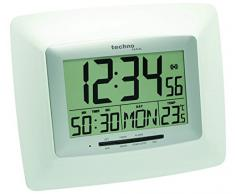Technoline WS 8100 - Reloj de pared (AA Mignon, LR 06, 1.5 V, Plata, Color blanco, De plástico, 27 mm, 235 mm)