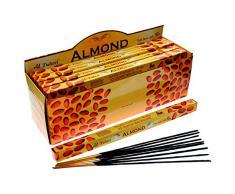 Tulasi - Varillas de incienso con aroma a almendras, lote de 25 paquetes