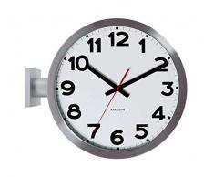 Karlsson KA5511 - Reloj de pared, doble cara, aluminio, números