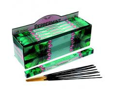 Tulasi - Varillas de incienso con aroma a menta, lote de 25 paquetes