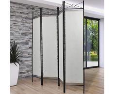 NOVA - Biombo Separador de Interiores - 4 Paneles, 180 x 160 cm, Multiusos, Plegable, Decorativo, selección de Colores - Pared divisoria, Separador Separado, Panel Privado